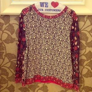 Tory Burch mixed print sweatshirt